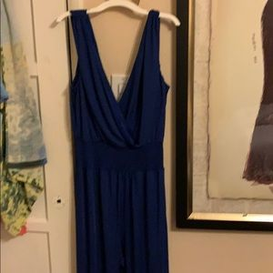 Bebe jumpsuit royal blue size large